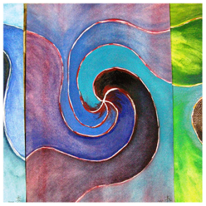 Journey of Blue to Green triptych_thumb